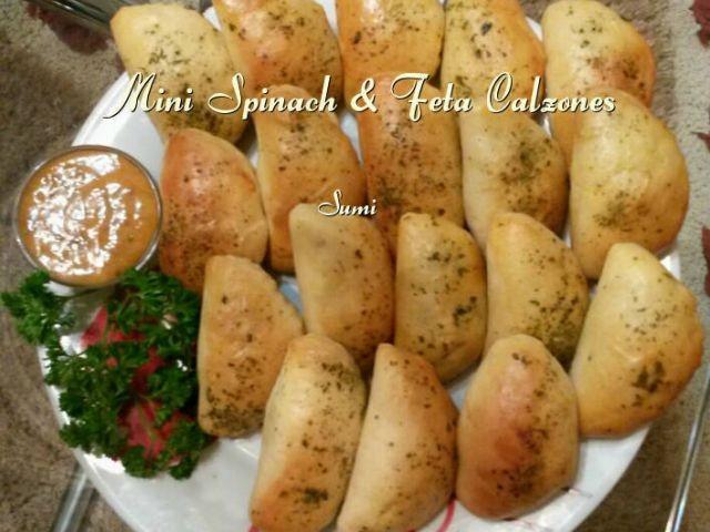 Spinach & Feta Calzones