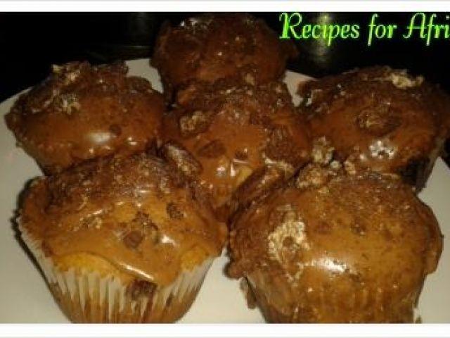 Capucchino Muffins With Choc Chip & Oreo