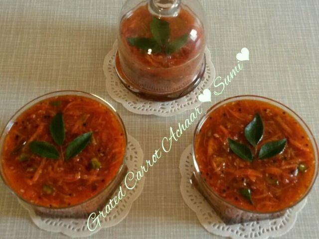 Grated Carrot Achaar
