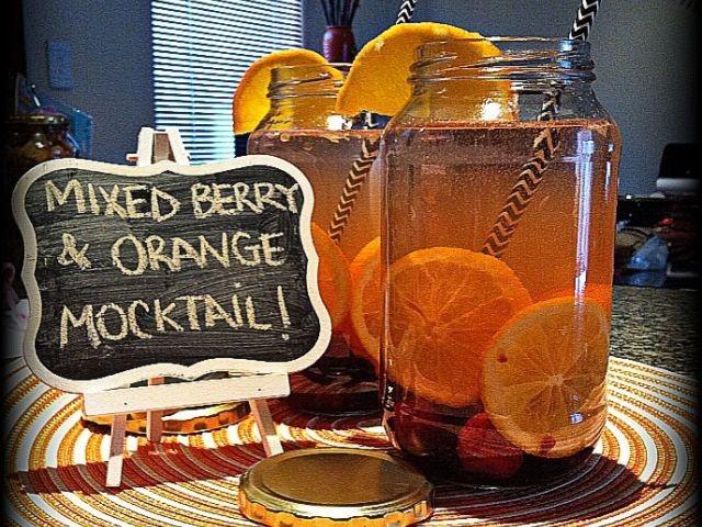 Mixed Berry & Orange Mocktail