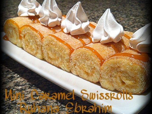 Mini Caramel Swissrolls