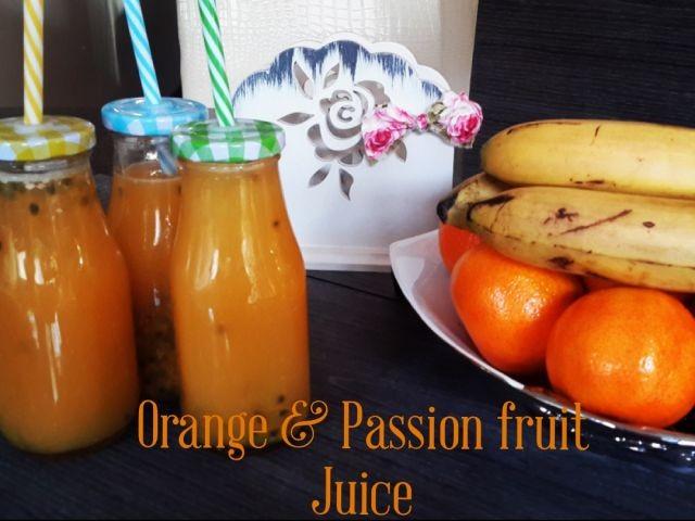 Orange And Passion Fruit Juice
