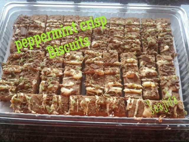 Peppermint Crisp Biscuit
