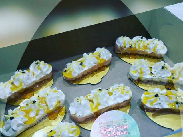 Cheesecake With Passion Fruit Topping