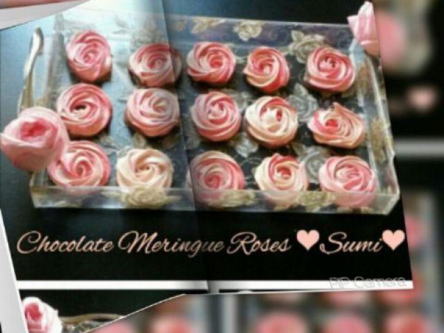 Choclate Meringue Roses