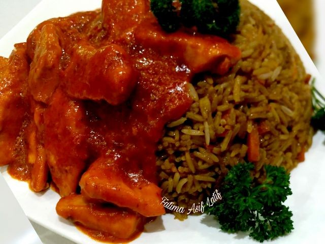 Chinese Fried Rice And Chinese Chilli Chicken