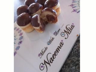 Chocolate Custard Filled Doughnuts