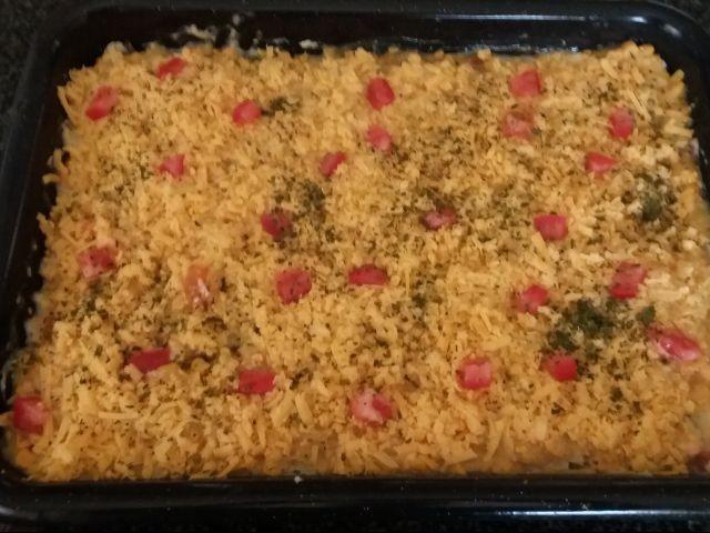 Sweetcorn And Garlic Potato Casserole