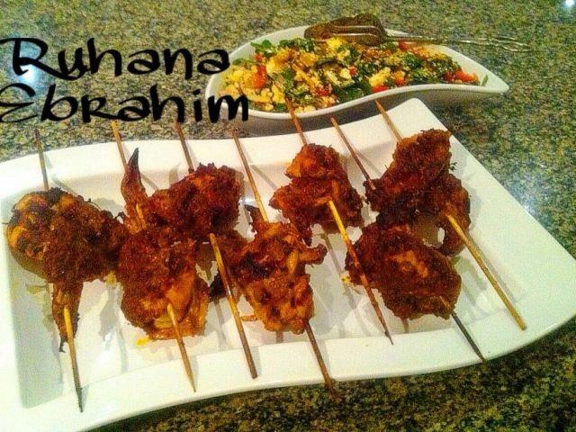 Tandoori Wings & Spicy Baby Spinach Salad