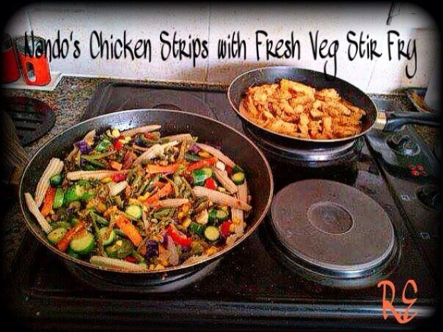 Nando's Strips With Fresh Veg Stir Fry