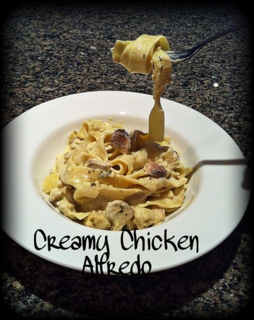 Creamy Tagliatelle Chicken Alfredo