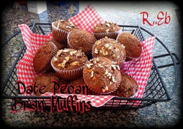 Date Pecan Bran Muffins
