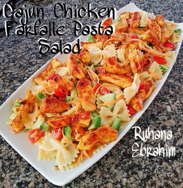 Cajun Chicken Farfalle Pasta Salad