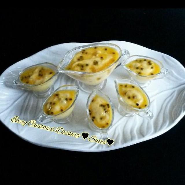 Easy Custard Granadilla Dessert