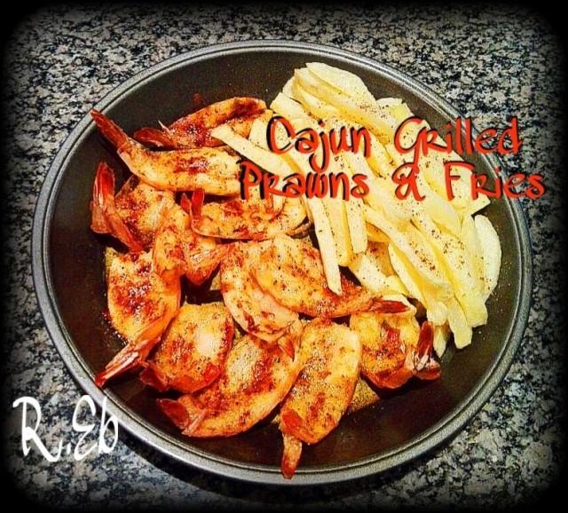Cajun Grilled Prawns & Fries
