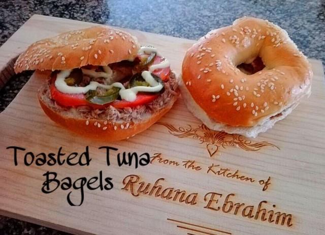 Toasted Tuna Bagels