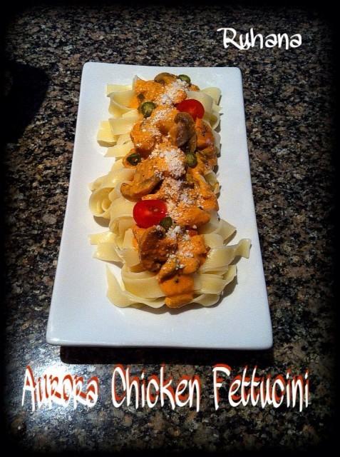 Ruhana's Aurora Chicken Fettucini