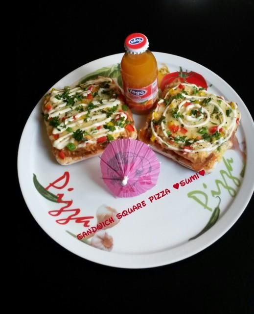Sandwich Square Pizza