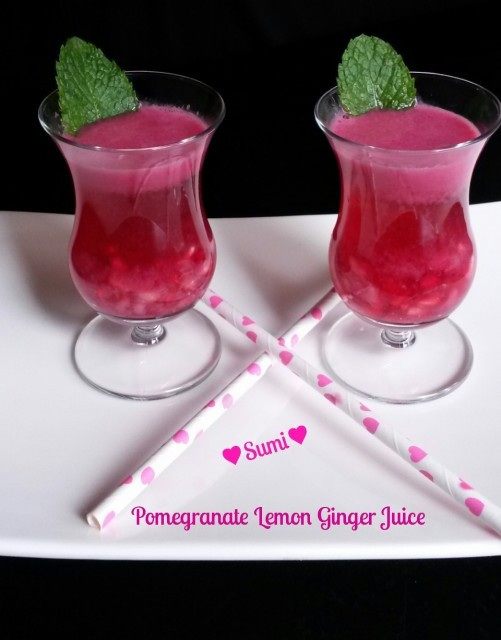 Pomegranate Lemon Ginger Juice