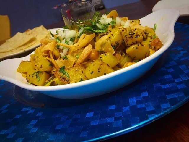 Potato And Chickpea Chaat / My Version