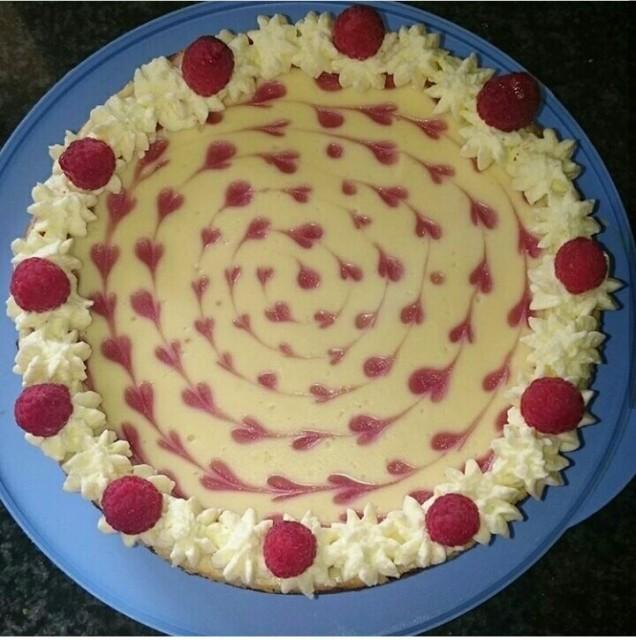 Raspberry And White Chocolate Cheesecake