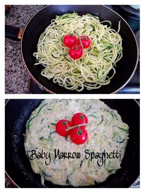 Creamy Baby Marrow Spaghetti