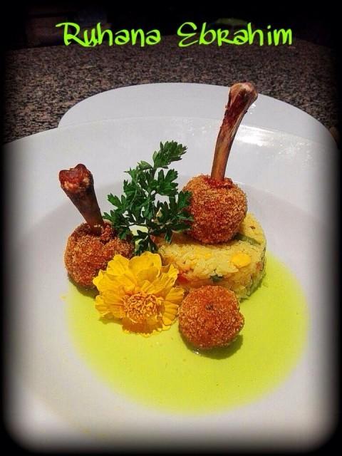 Chicken Lolipops & Savoury Rice