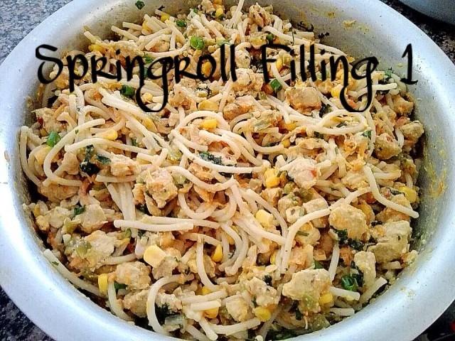 Chicken Springroll Filling