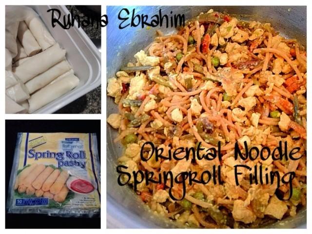 Oriental Noodle Springroll Filling