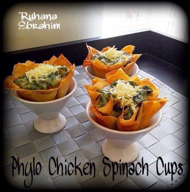 Phylo Chicken Spinach Cup Pies