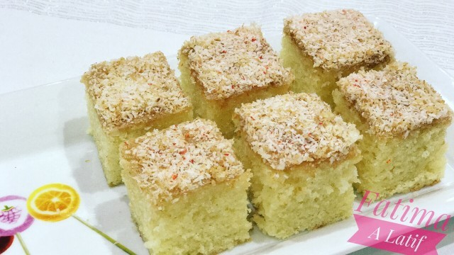 Sponge Cake With Syrup And Coconut