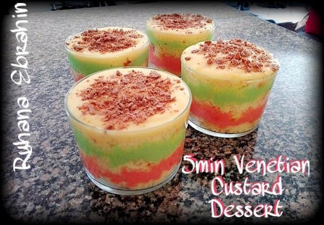 5min Venetian Custard Dessert