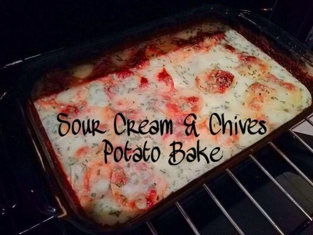 Sour Cream & Chives Potato Bake