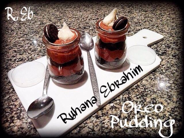 Oreo Choc Caramel Pudding