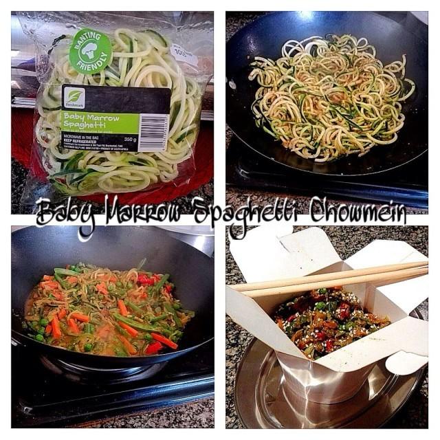 Baby Marrow Spaghetti Chowmein