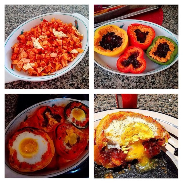 Baked Eggs In Stuffed Peppers 2