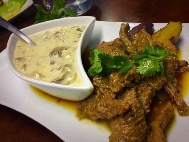Masala Pepper Steak + Mushroom Sauce  / My Version