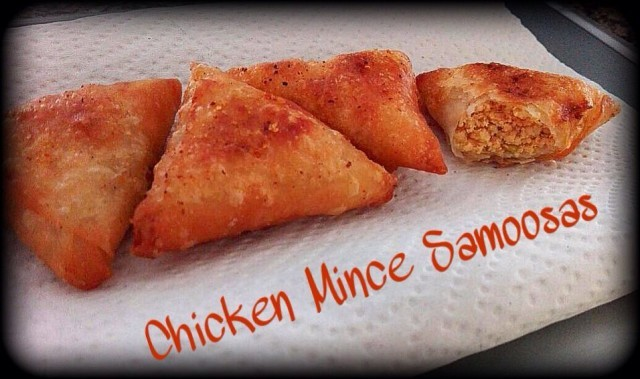 Chicken Mince Samoosas