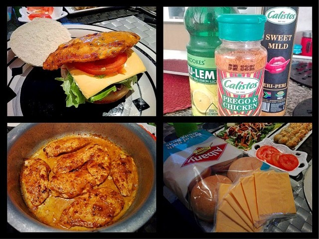Calisto's Prego Chicken Fillet Burgers