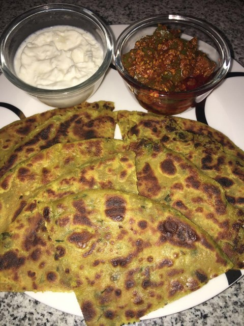 Cheesy Aaloo Paratha