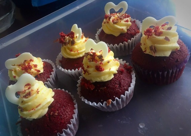 Red Velvet Cuppies  / Adapted Form The Net