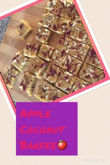 Coconut & Apple Barfee