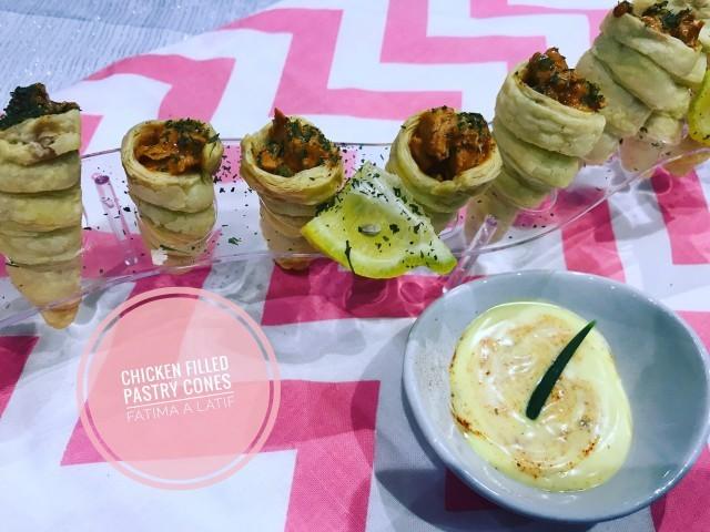 Pastry Cones With Mochachos Chicken Filling
