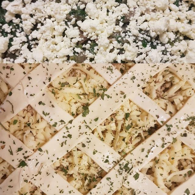 Mushroom, Spinach & Feta Pie