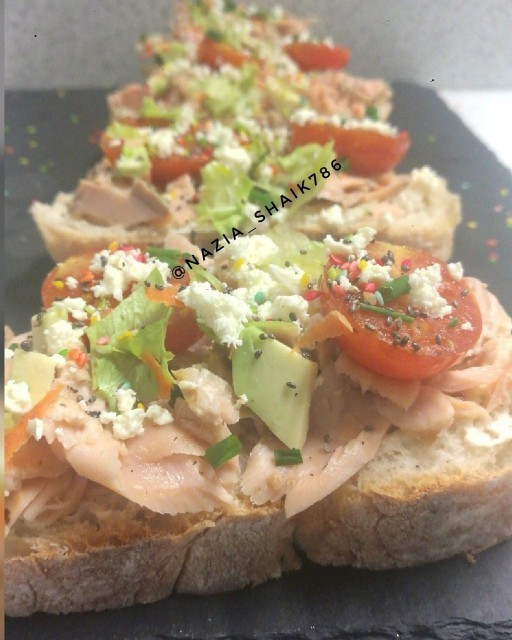 Salmon On Toasted Ciabatta