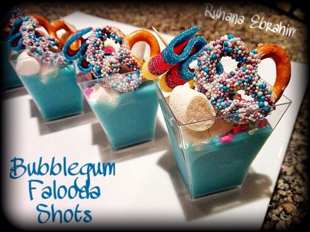 Bubblegum Falooda Shots