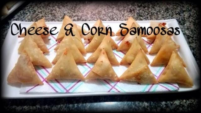 Cheese & Corn Samoosas