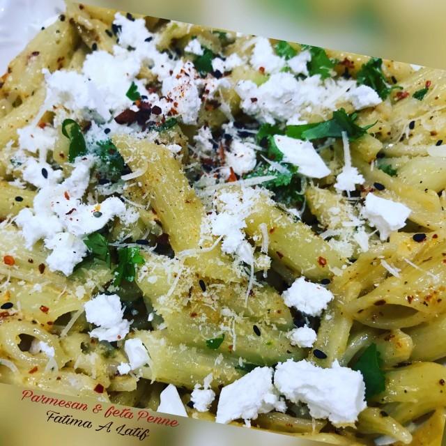 Parmesan & Feta Penne Pasta
