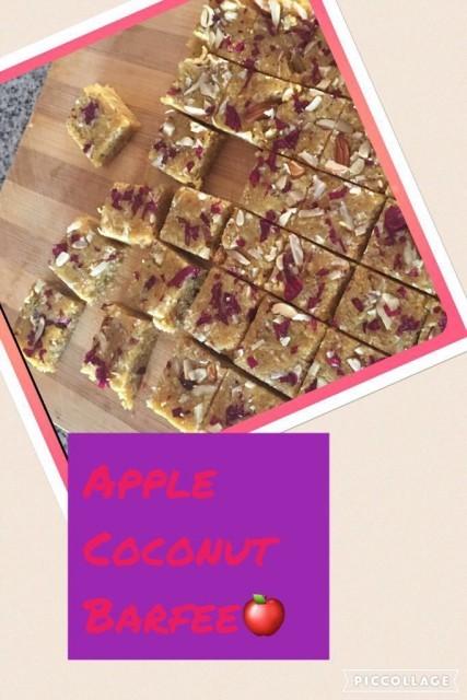 Coconut &a Apple Barfi