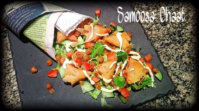 Samoosa Chaat Salad